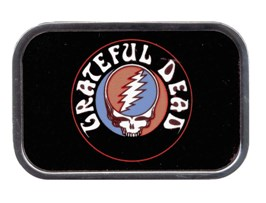 Grateful Dead steal Face Text buckle