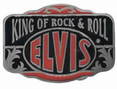 Elvis King of Rock and roll buckle