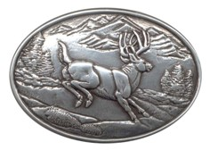 Smaller Jumping Deer buckle