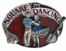 Square Dancing Buckle