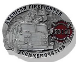 2013 American fire fighter buckle