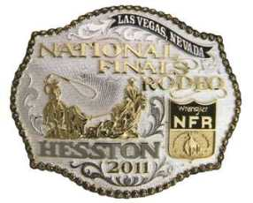 2011 Hesston NFR Gold silver buckle
