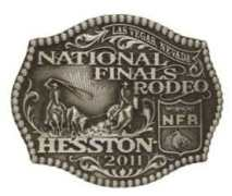 2011 Hesston NFR youth buckle
