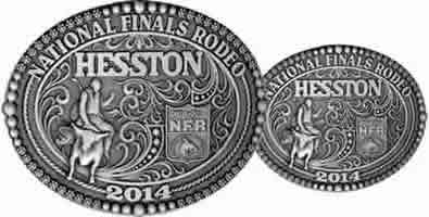 2014 Adult Hesston NFR buckle and 2014 Hesston Youth buckle