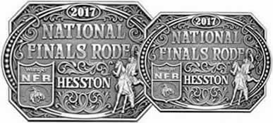 2017 Hesston Buckles Adult and Youth Pewter Color