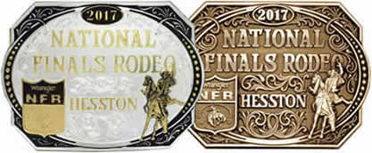 2017 Hesstons Gold-Silver Brass Buckles