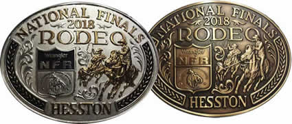 2018 Hesston NFR buckle Gold and Silver Brass