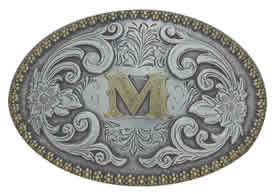M initial buckle