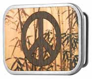 302753 Bamboo Peace Sign buckle