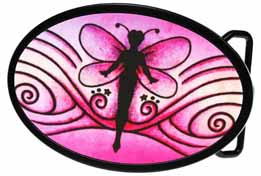 720373 Pink Fairy Oval buckle