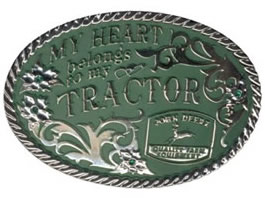 John Deere My Heart belongs to my tractor buckle