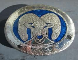Ram Head Silver buckle