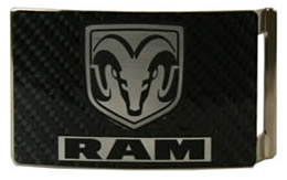 Dodge Ram Carbon fiber buckle