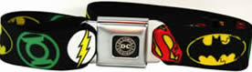 DC Comics logos seatbelt buckle