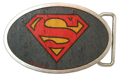 superman buckle color wood oval buckle