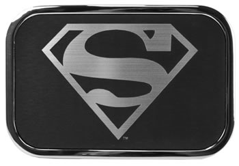 Silver and Black Superman Buckle