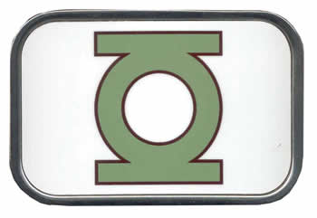 Green Lantern Full Color Glossy buckle