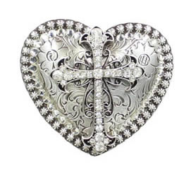 Heart and Cross buckle