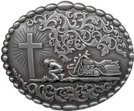 Praying Biker Buckle