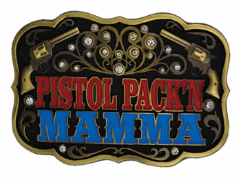 Pistol Packing Mamma Buckle