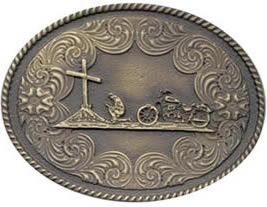 Praying Biker in Brass