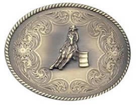 Barrel Racer Brass oval buckle