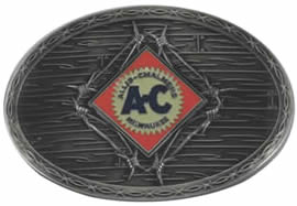 Allis Chalmers barbwire buckle
