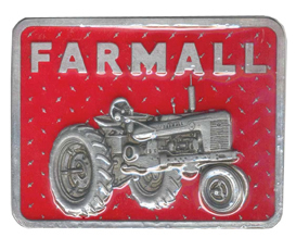 Red Tractor Farmall buckle