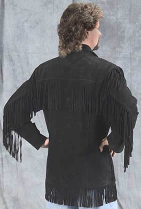 Suede Fringe Leather Frontier jacket