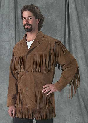 Suede Leather Fringe Frontier Jacket