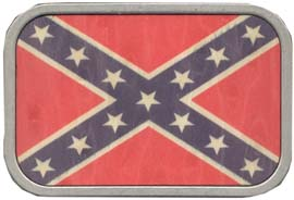 Rebel-Redneck wood flag buckle