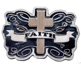 Faith Brown Cross with black background