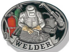 Welder buckle in color