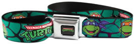 Teenage Mutant Ninja Turtles Green Seatbelt belt