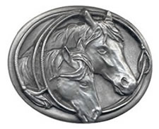 Horse Heads buckle