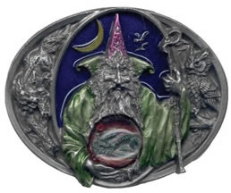 Wizard with Dragon in Crystal ball