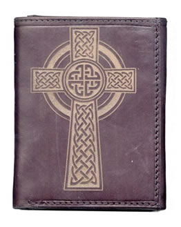 Leather Wallet with Celtic Cross
