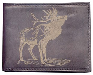 Leather Wallet with Elk