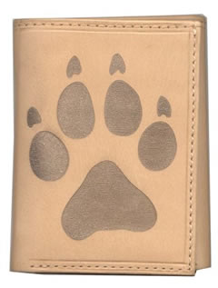 Leather Wallet with Wolf Track
