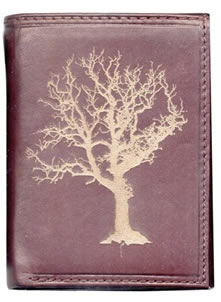 Leather Wallet with Tree design