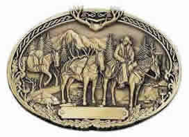 Pack horses buckle in brass