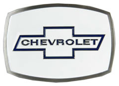 Chevy Cross on White buckle