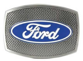 Ford buckle with grill design background