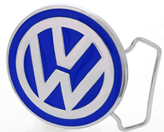 VW Logo on Blue Round buckle