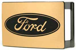 008198 Ford Brass Brushed Rectangle buckle