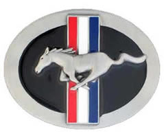 Ford Mustang running horse logo buckle
