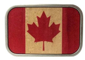 Canadian Flag Buckle in wood